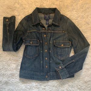 LUCKY BRAND Jean Jacket Women's distressed Size SP